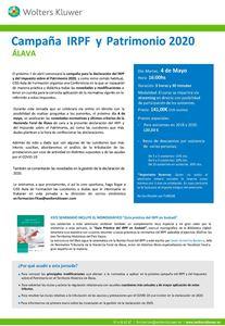 Imagen de Campaña IRPF y Patrimonio 2020 - ALAVA