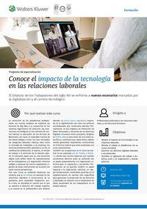 Programa de especialización Conoce el impacto de la tecnología en las relaciones laborales