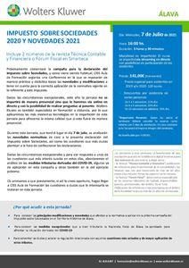 Impuesto sobre sociedades 2020 y novedades para 2021 - Álava