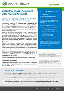 Impuesto sobre sociedades 2020 y novedades para 2021 - Gipuzkoa