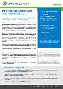 Impuesto sobre sociedades 2020 y novedades para 2021 - Bizkaia