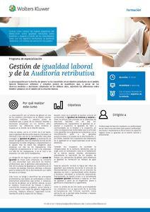Programa de especialización Gestión de igualdad laboral y de la Auditoría retributiva
