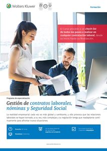 Programa de especialización Gestión de contratos laborales, nóminas y Seguridad Social