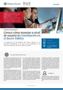Programa de especialización Conoce cómo manejar a nivel de usuario la Contratación en el Sector Público