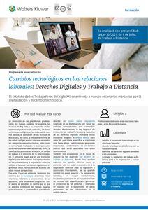 Programa de especialización Cambios tecnológicos en las relaciones laborales: Derechos Digitales y Trabajo a Distancia