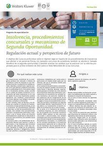 Programa de especialización Insolvencia, procedimientos concursales y mecanismo de Segunda Oportunidad